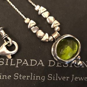 Silpada N1461 Sterling Silver Green Glass Necklace